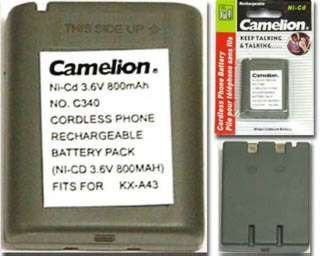 BATTERY NI-CAD 800MAH 3.6V WITHOUT CONN FOR CORDLESS PHONE