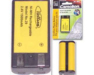 BATTERY NI-MH 2XAA 1500MAH CORDLESS PHONE BATTERY