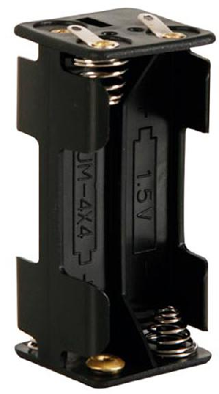 BATTERY HOLDER AAAX4 PLAS BLK W/ SOLDER LUG CONNECTOR