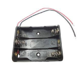 BATTERY HOLDER AAX3 W/ WIRE 