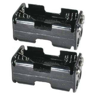 BATTERY HOLDER AAX4 PLAS SNAP BLK