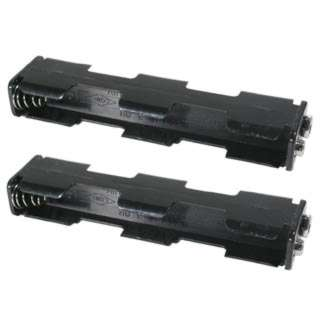 BATTERY HOLDER AAX4 PLAS BLK 