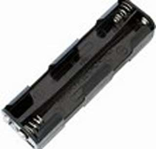BATTERY HOLDER AAX8 PLASTIC BLK SNAP