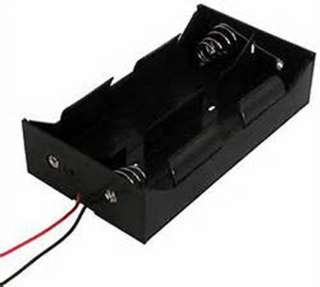 BATTERY HOLDER DX4 PLASTIC BLK WITH WIRE
