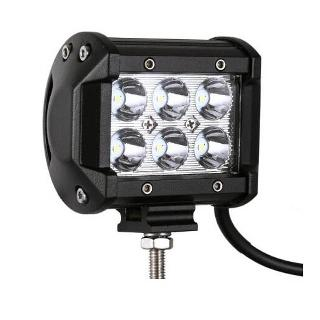 LIGHT BAR 6 LED 10-30VDC 1500LM 3.5X3.1IN 6000K 1.5A 18W IP67