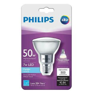 BULB LED PAR20 E26 DAYLIGHT 7W DIMMABLE 120V REPLACES 50W