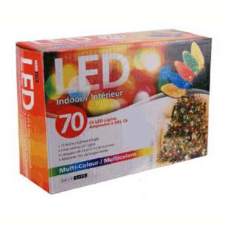 LED STRING LIGHT DECORATIVE MULTI COLOR 23FT INDOOR 70LEDS
