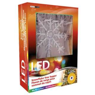 LED SNOWFLAKE TREE TOPPER MULTI COLOUR NEEDS 2 AA BATTERIES