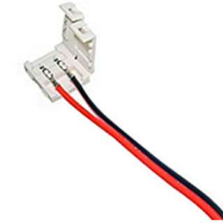LED STRIP SNAPON 2P CONN W/WIRE 8MM