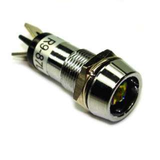 INDICATOR 12V LED 13MM AMB CHMT QT