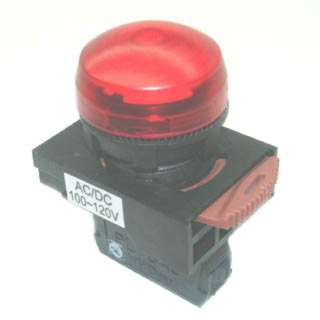 PILOT LIGHT 110V AC DOME RED 