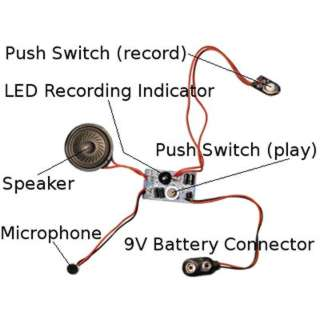 RECORDING MODULE 20SEC WITH 9V BATTERY CONNECTOR