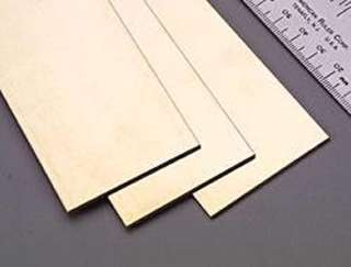 BRASS SHEET 10X4X.032IN 