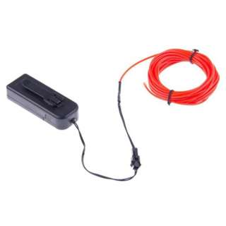EL WIRE RED 2.3MM 3M WITH 3V BATTERY PACK INVERTER
