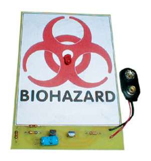 BIO-HAZARD SIGN - FLASHING LIGHT 