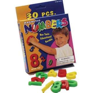 MAGNETIC NUMBERS 30 ASSORTED PCS 