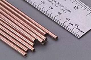 ROUND COPPER TUBE DIAMETER:5/32 LENGTH:12IN