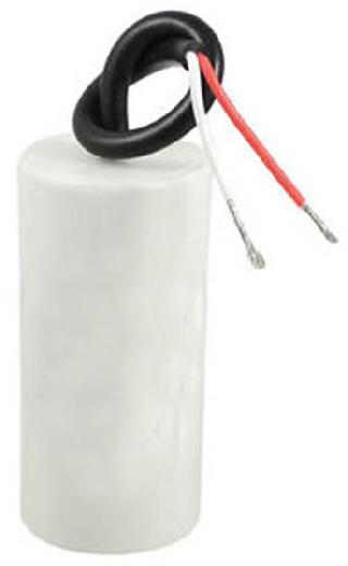 CAP AC MR 17UF 400V RND W/WIRE PLASTIC BODY 1.5X3.5IN