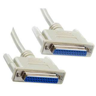 SERIAL CABLE DB25F/F 6FT 