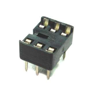 IC SOCKET DW 6 TIN 7.62MM 