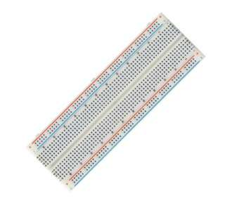 BREADBOARD 2 STRIP 2.1X6.4IN 830 TIE POINTS W/METAL PLATE
