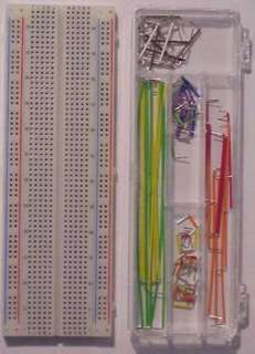 BREADBOARD WITH WIRING KIT 830 CONTACTS JUMPER WIRES IN A BOX