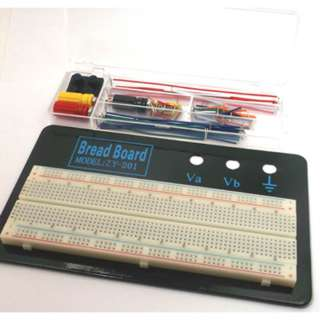 BREADBOARD WITH WIRING KIT 830 CONTACT JUPER WIRE BINDING POST