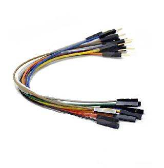 JUMPER WIRE MALE FEMALE 6INCH 24AWG ASSORTED COLOR 10PCS/PKG