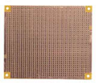 PCB ETCHED SS 3.4X3.4IN SINGLE HOLE PAD