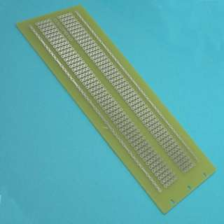 PCB ETCHED SS 2X5IN 1 2 & 3 CONN TED PADS WITH POWER BUS