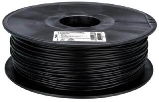 3D FILAMENT PLA BLACK 3MM 1KG 2IN CENTER HOLE