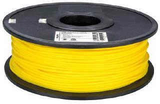 3D FILAMENT PLA YELLOW 3MM 1KG 2IN CENTER HOLE