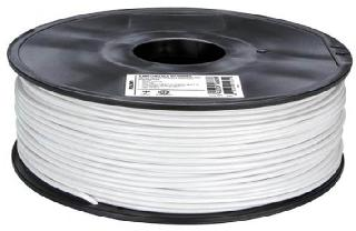 3D FILAMENT PLA WHITE 3MM 1KG 2IN CENTER HOLE