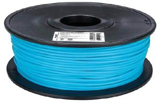 3D FILAMENT PLA LIGHT BLU 3MM 1KG 2IN CENTER HOLE