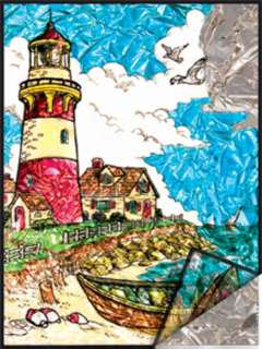 LIGHTHOUSE-FOIL PAINTING BY NUMBERS