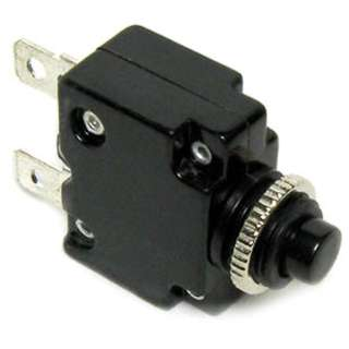 CIRCUIT BREAKER 5A 250VAC PUSH CHMT 1P 9.5MM DIA QT 6.3MM