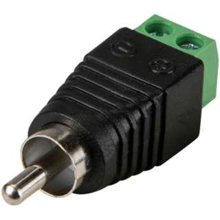 RCA PLUG TO 2P SCREW TERMINAL 