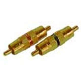 ADAPTER RCA PLUG-PLUG METAL GOLD BLK