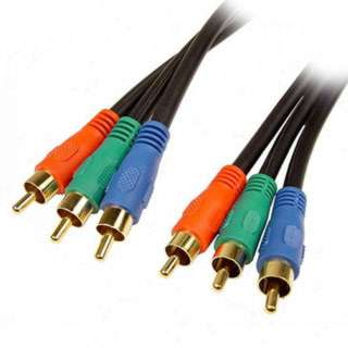 COMPONENT VIDEO CABLE 3M/M 6FT 3X3RCA GOLD