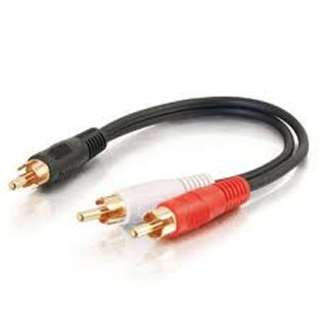 RCA CABLE ASSY Y 2MALE-1MALE 6IN TIN
