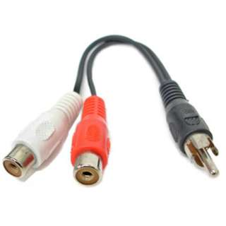 RCA CABLE ASSY Y 2FEM-1MALE 10IN RCA ADAPTER GOLD