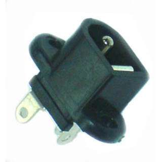 DC POWER JACK 2.1MM CHMT PLASTIC 6.3X8.4MM