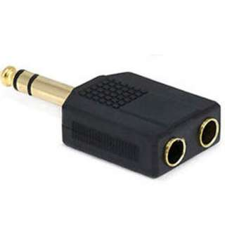 AUDIO ADAPT 6.3STERPL-6.3STEREO JKX2 GOLD