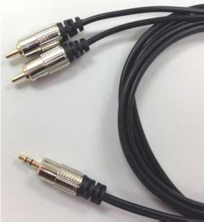 AUDIO CABLE 3.5 STEREO PL-RCAPX2 2 RCA PLUG 6FT
