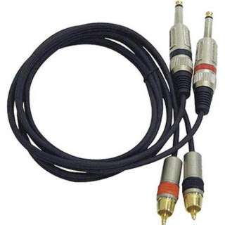AUDIO CABLE 2X6.3MON PL-2XRCAPL METAL 5FT BLK
