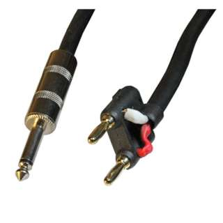 AUDIO CABLE 6.3MON PL-BANANA PL2 10FT