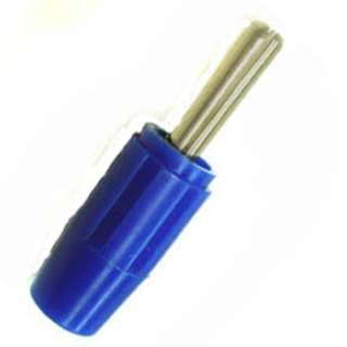 BANANA PLUG THROUGH HOLE SMALL BLUE INSULATED