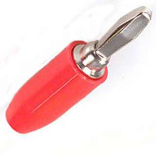 BANANA PLUG THROUGH HOLE STD RED INSULATED