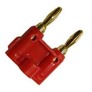 BANANA PLUG/JACK DBL STD RED GOL 