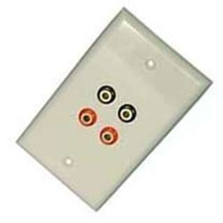 WALL PLATE BANANAJKX4 RED/BLK GOLD WHITE
